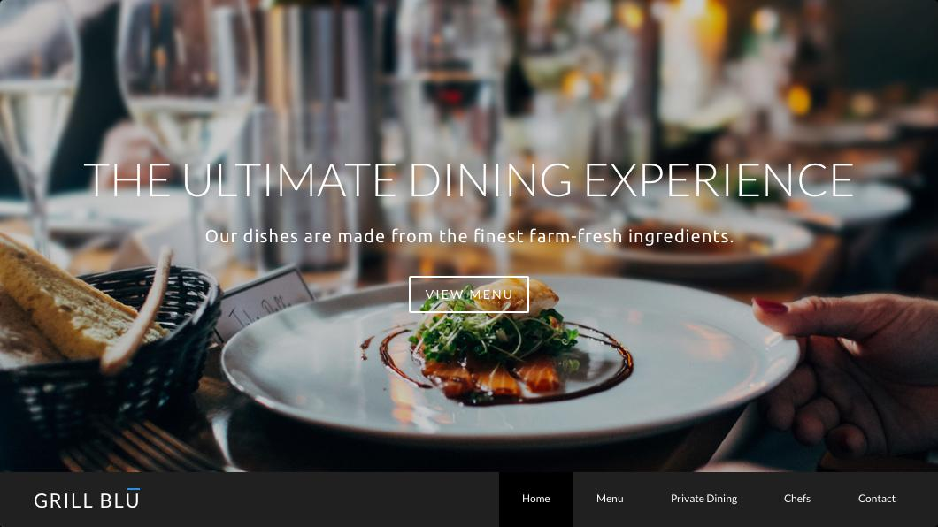 Template for Restaurants on Weebly