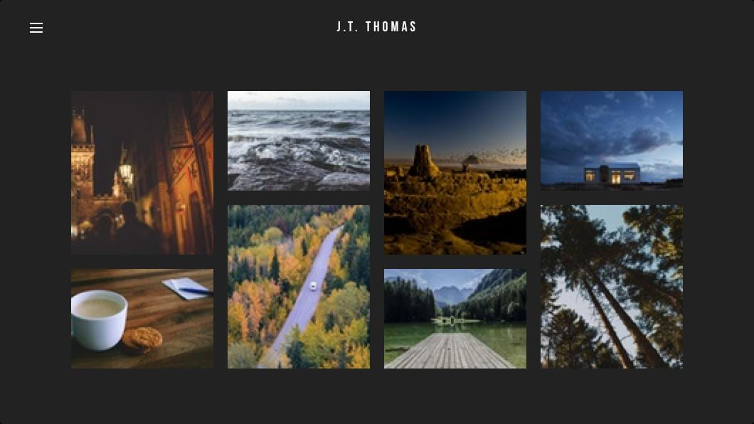 Photographer template for Weebly