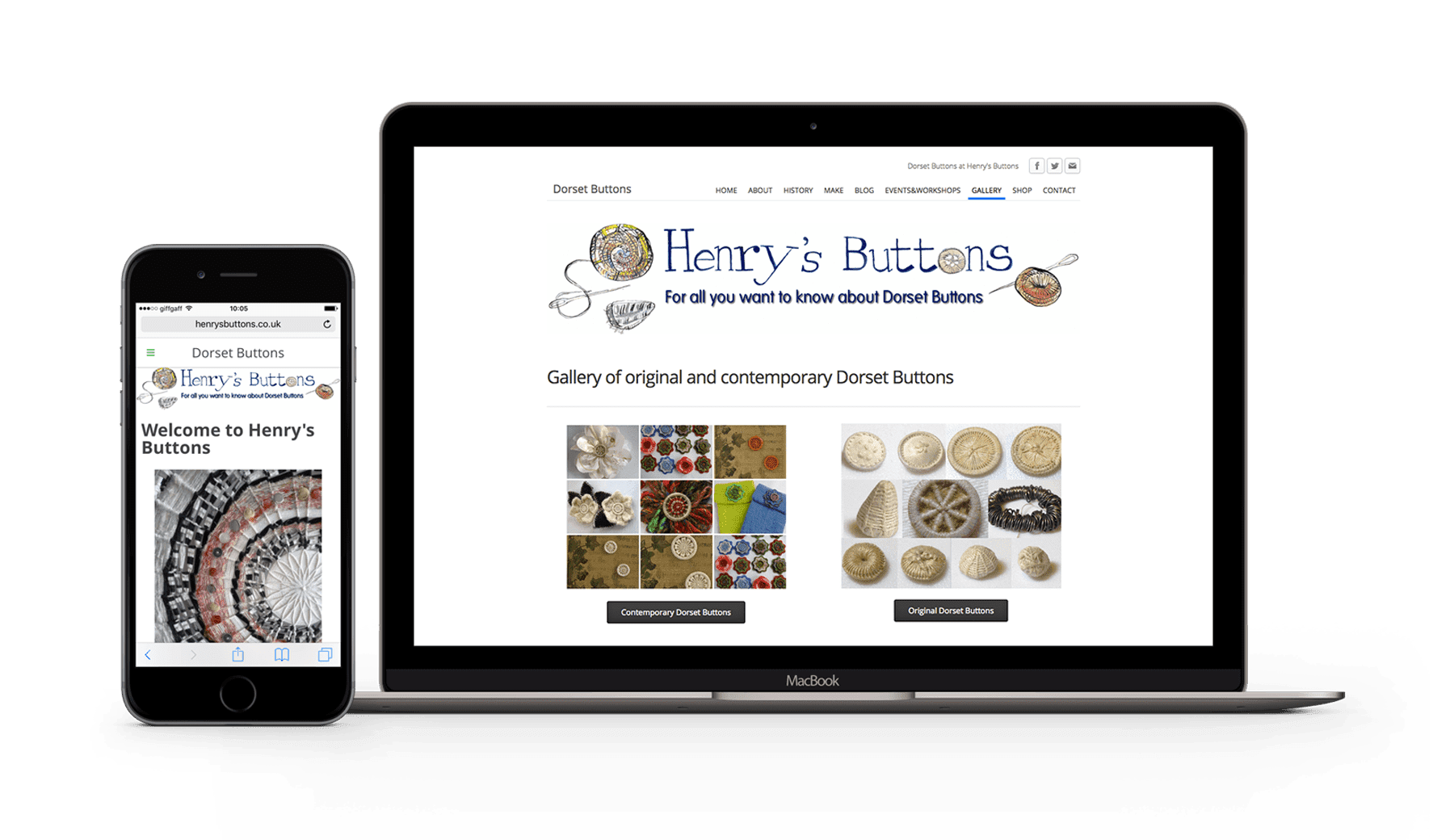 Weebly web testimonial from Henry's Buttons