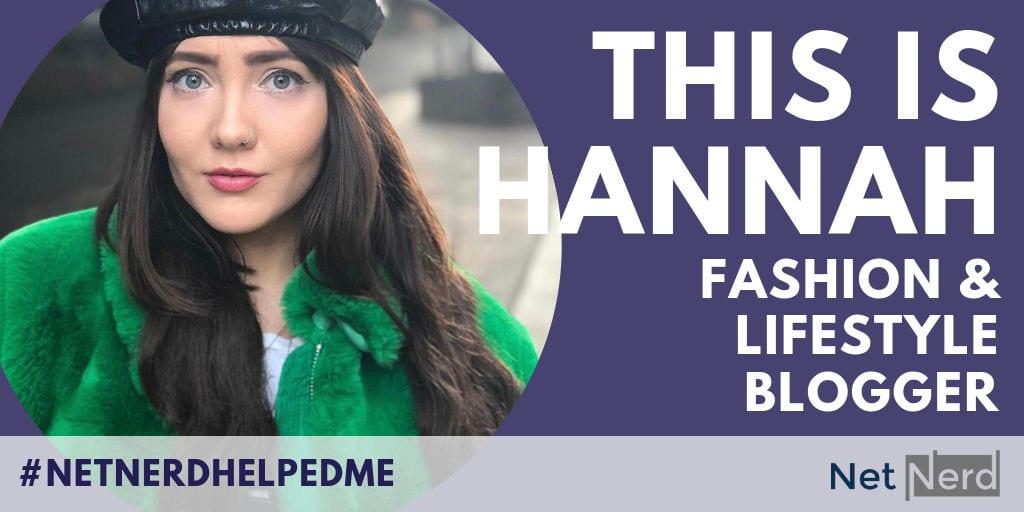 Fashion and lifestyle blogger Hannah